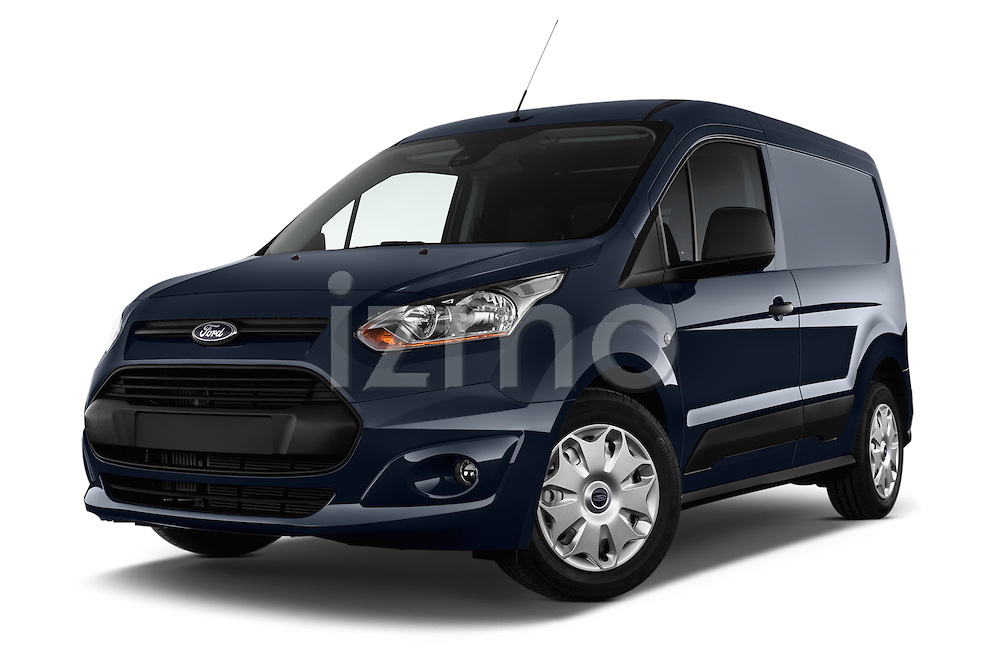 Low aggressive front three quarter view of a 2014 Ford Transit Connect Trend 5 Door Minivan 2WD