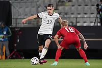 Florian Neuhaus (Deutschland Germany) gegen Daniel Waas (Dänemark, Denmark) - Innsbruck 02.06.2021: Deutschland vs. Daenemark, Tivoli Stadion Innsbruck