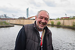 © Joel Goodman - 07973 332324 . 30/04/2017 . Salford, UK . Valeriy (43) , from Lithuania . Homeless men are living in a towpath tunnel in Saford , in the shadow of the Ordsall Chord railway link and a large , Chinese-backed housing development. Photo credit : Joel Goodman