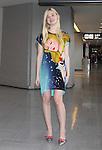 Elle Fanning arrivs for premiere ' Maleficient' at Narita International airport Chiba pref Japan on 21 Jun 2014