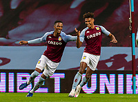 4th October 2020, Villa Park, Birmingham, England;  Aston Villas Ollie Watkins celebrates after scoring his hat-trick goal in the 39th minute during the English Premier League match between Aston Villa and Liverpool at Villa Park