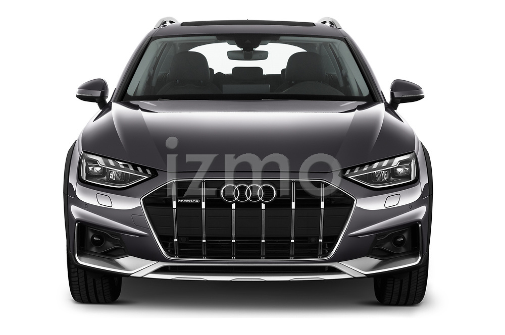 Car photography straight front view of a 2020 Audi A4-Allroad Base 5 Door Wagon
