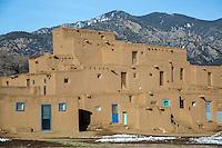 Taos Pueblo World Heritage Site in New Mexico