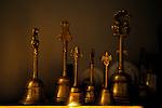Hand bells at the Haidakhandi Universal Ashram near Crestone, CO. Michael Brands for The New York Times.