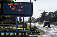 State Highway One, Ohau at 10am, Wednesday during lockdown for the COVID-19 pandemic in Ohau, New Zealand on Wednesday, 29 April 2020. Photo: Dave Lintott / lintottphoto.co.nz