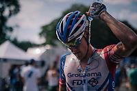 Ramon Sinkeldam (NED/Groupama-FDJ) cooling down after the hot stage <br /> <br /> Stage 9: Arras Citadelle > Roubaix (154km)<br /> <br /> 105th Tour de France 2018<br /> ©kramon