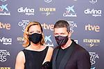 Maria Casado and Antonio Banderas attend the red carpet previous to Goya Awards 2021 Gala in Malaga . March 06, 2021. (Alterphotos/Francis González)