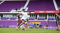 Orlando, Florida - Friday January 12, 2018: Mason Toye during the agility test. The 2018 adidas MLS Player Combine Skills Testing was held Orlando City Stadium.
