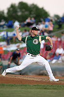 August 15 2008:  Pitcher Jamie Richmond of the Kane County Cougars, Class-A affiliate of the Oakland Athletics, during a game at Philip B. Elfstrom Stadium in Geneva, IL.  Photo by:  Mike Janes/Four Seam Images