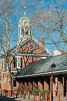 Headhouse Square New Market, historic district in the Society Hill neighborhood of Philadelphia, Pennsylvania, USA.