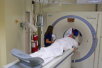 Young Boy is getting a CT Scan at the Hospital, Manila, Philippines