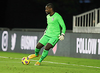 FORT LAUDERDALE, FL - DECEMBER 09: Bill Hamid #1 of the United States moves with the ball during a game between El Salvador and USMNT at Inter Miami CF Stadium on December 09, 2020 in Fort Lauderdale, Florida.