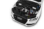 Car stock 2015 Audi SQ5 quattro tiptronic Premium 5 Door SUV engine high angle detail view