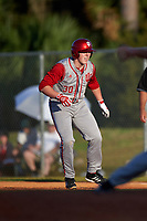 Indiana Hoosiers designated hitter Scotty Bradley (30) during a game against the Illinois State Redbirds on March 4, 2016 at North Charlotte Regional Park in Port Charlotte, Florida.  Indiana defeated Illinois State 14-1.  (Mike Janes/Four Seam Images)