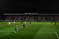 General view of the Lamex Stadium during Stevenage vs MK Dons, EFL Trophy Football at the Lamex Stadium on 6th October 2020
