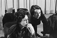 Luciana Castellina e Lidia Menapace durante il congresso di unificazione del gruppo del Manifesto col PDUP, Partito di Unità Proletaria (Bologna, 1976)