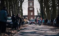 the breakaway group<br /> <br /> Omloop Het Nieuwsblad 2018<br /> Gent › Meerbeke: 196km (BELGIUM)