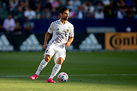 CARSON, CA - JUNE 19: Sebastian Lletget #17 of the Los Angeles Galaxy turns with the ball during a game between Seattle Sounders FC and Los Angeles Galaxy at Dignity Health Sports Park on June 19, 2021 in Carson, California.