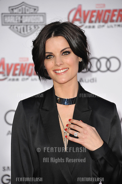 """Jaimie Alexander at the world premiere of """"Avengers: Age of Ultron"""" at the Dolby Theatre, Hollywood.<br /> April 13, 2015  Los Angeles, CA<br /> Picture: Paul Smith / Featureflash"""