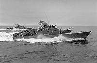 - NATO exercises in Norway, february 1986; Norwegian Navy, Hauk class missiles launcher fast patrol boats<br /> <br /> - Esercitazioni NATO in Norvegia, febbraio 1986; motosiluranti lanciamissili classe Hauk della Marina Norvegese