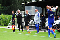 Jon Grey and Anthony Wright Coaches of Swansea City in action during the Premier League u18 match between Swansea City AFC and Chelsea FC at Landore Training Ground, Wales, UK. Tuesday 11th September 2018