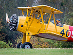 Old US Navy Biplane 405. 1944 Stearman. Eagles Mere Air Museum.