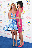 LOS ANGELES, CA, USA - AUGUST 10: Bella Thorne and Zendaya arrive at the Teen Choice Awards 2014 held at The Shrine Auditorium on August 10, 2014 in Los Angeles, California, United States. (Photo by Celebrity Monitor)