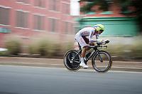 Maciej Bodnar (POL/Tinkoff-Saxo) speeding along<br /> <br /> Elite Men TT<br /> UCI Road World Championships / Richmond 2015