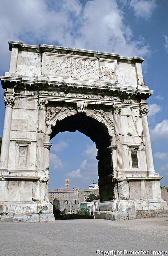 Front view of the Arch of Titus, Rome, AD 81