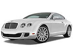 Low aggressive front three quarter view of a 2008 - 2012 Bentley Continental GT Speed Coupe.