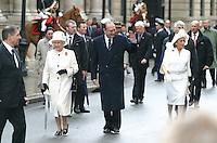 Queen Elizabeth 2 & Prince Philip, Duke Of Edinburgh With Jacques & Bernadette Chirac In France #