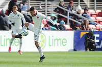 WASHINTON, DC - FEBRUARY 29: Washington, D.C. - February 29, 2020: Andre Shinyashiki #99 of the Colorado Rapids moves the ball during a game between D.C. United and the Colorado Rapids. The Colorado Rapids defeated D.C. United 2-1 during their Major League Soccer (MLS)  match at Audi Field during a game between Colorado Rapids and D.C. United at Audi FIeld on February 29, 2020 in Washinton, DC.