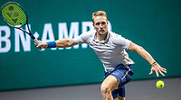 Rotterdam, The Netherlands, 27 Februari 2021, ABNAMRO World Tennis Tournament, Ahoy, Qualyfying match: Jelle Sels (NED)<br /> Photo: www.tennisimages.com/henkkoster
