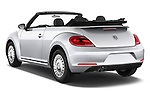 Car pictures of rear three quarter view of a 2015 Volkswagen Beetle - 2 Door Convertible 2WD Angular Rear