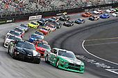 #22: Austin Cindric, Team Penske, Ford Mustang MoneyLion and #18: Kyle Busch, Joe Gibbs Racing, Toyota Supra Juniper