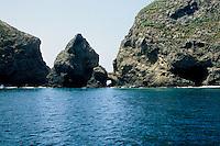 Shoreline along the Island of Annacapa, California
