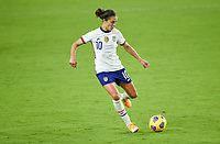 ORLANDO, FL - JANUARY 18: Carli Lloyd #10 of the United States chases down a loose ball during a game between Colombia and USWNT at Exploria Stadium on January 18, 2021 in Orlando, Florida.