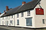 Royal Huntsman public house Williton Somerset Uk. Quantocks. Village pub closed down out of business.