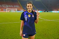 BREDA, NETHERLANDS - NOVEMBER 27: Sophia Smith #11 of the United States celebrates her first senior national team cap during a game between Netherlands and USWNT at Rat Verlegh Stadion on November 27, 2020 in Breda, Netherlands.