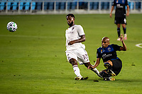 SAN JOSE, CA - SEPTEMBER 05: Kellyn Acosta #10 and Judson #93 during a game between Colorado Rapids and San Jose Earthquakes at Earthquakes Stadium on September 05, 2020 in San Jose, California.