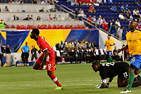 Harrison, NJ - Friday July 07, 2017: Alphonso Davies during a 2017 CONCACAF Gold Cup Group A match between the men's national teams of French Guiana (GUF) and Canada (CAN) at Red Bull Arena.