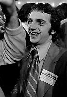 Congres du Parti Quebecois Du 26 au 28 février 1971,au Patro Roc-Amadour a Limoilou, Quebec<br /> en presence de Rene Levesque, Jacques Parizeau, Gilles Gregoire, Claude Charron<br /> <br /> Photographe : Photo Moderne