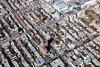 Aerials of Manhattan, Brooklyn, Long Island City, First Calvary Cemetery - New York City - 7 Novembe