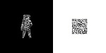 "QR Code translation of Neil Armstrong's quote:""That is a small step for a man, a giant leap for mankind,""<br />