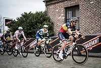 Belgian National Champion Dries De Bondt (BEL/Alpecin-Fenix) up the Oude Kwaremont<br /> <br /> 105th Ronde van Vlaanderen 2021 (MEN1.UWT)<br /> <br /> 1 day race from Antwerp to Oudenaarde (BEL/264km) <br /> <br /> ©kramon