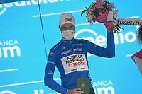 23rd May; 2021 Giro D Italia stage 15, Grado to Gorizia;  Ag2r - Citroen Bouchard, Geoffrey on the podium in Gorizia