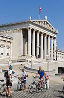 Parlament, gebaut 1874-1883 von Theophil von Hansen, Dr.-Karl-Renner-Ring 3, Wien, Österreich, UNESCO-Weltkulturerbe<br /> Parliament built 1874-1883 by Theophil von Hansen, Vienna, Austria, world heritage
