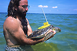 James Buehler W Green Turtle & Sat Tag