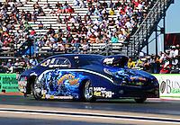 Sept. 21, 2013; Ennis, TX, USA: NHRA pro stock driver Rodger Brogdon during the Fall Nationals at the Texas Motorplex. Mandatory Credit: Mark J. Rebilas-