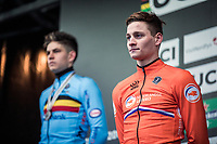 Mathieu Van der Poel (NED), new World Champion Men's Elite 2019 <br /> <br /> Men's Elite race <br /> <br /> UCI 2019 Cyclocross World Championships<br /> Bogense / Denmark<br /> <br /> <br /> ©kramon